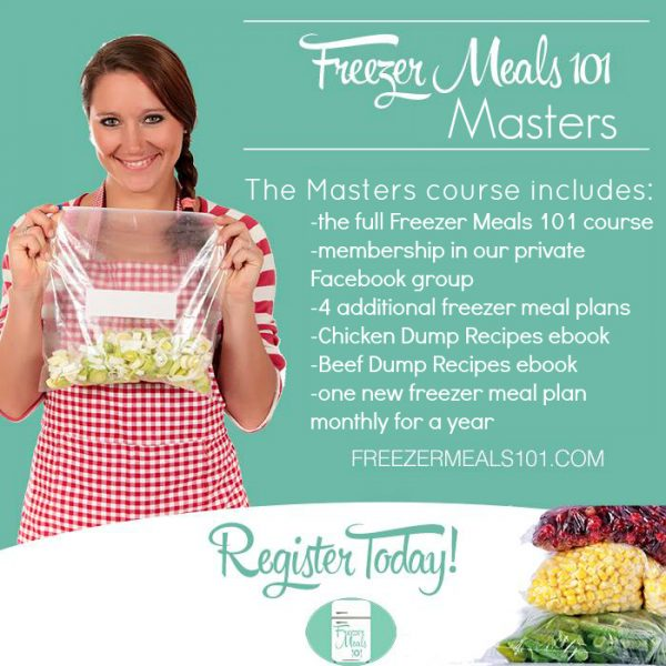 freezer meals levels MASTERS final
