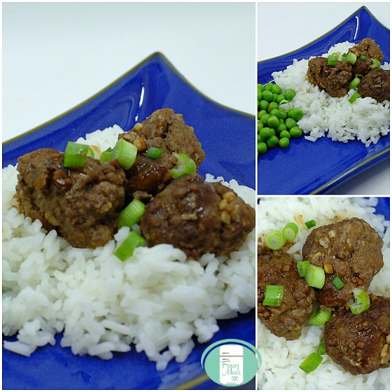 collage of keto friendly easy Asian meatballs