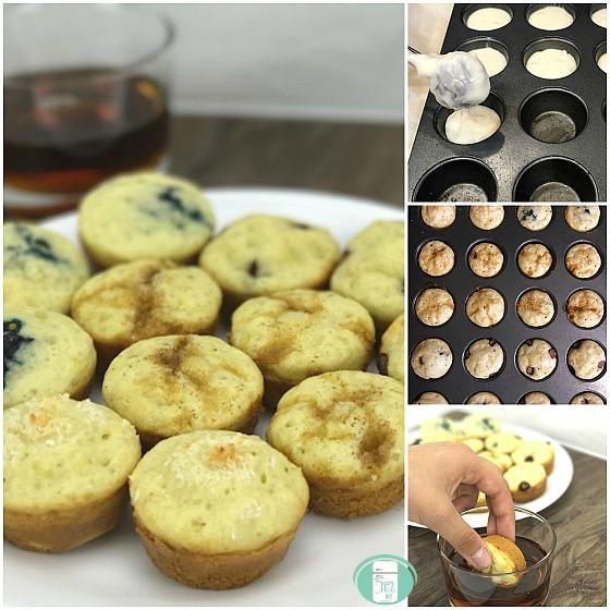 pancake mini muffins and syrup dip