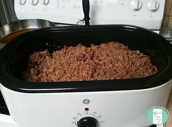 browning ground beef in electric roaster