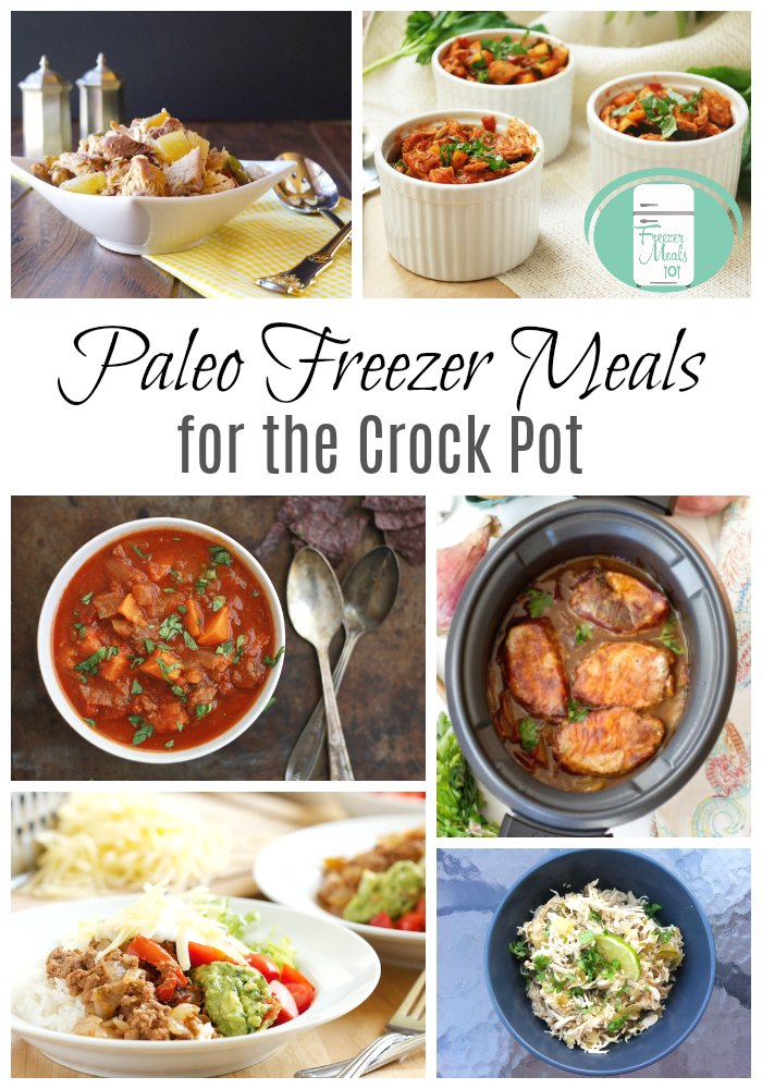 Giant list of Paleo freezer meals for the crock pot #freezermeals #freezermeals101 #crockpot #slowcooker