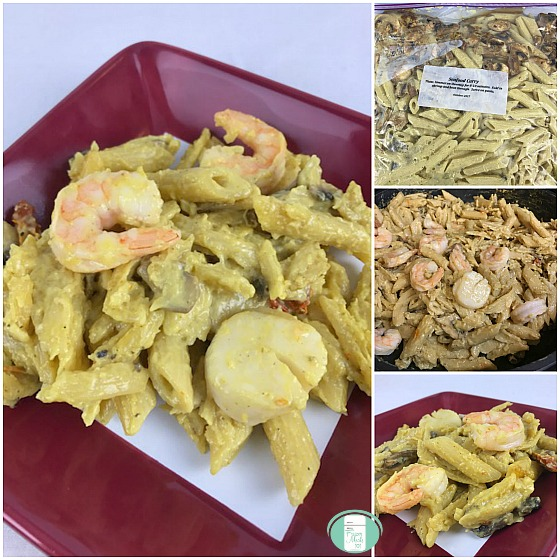 Seafood Curry Pasta make-ahead meal