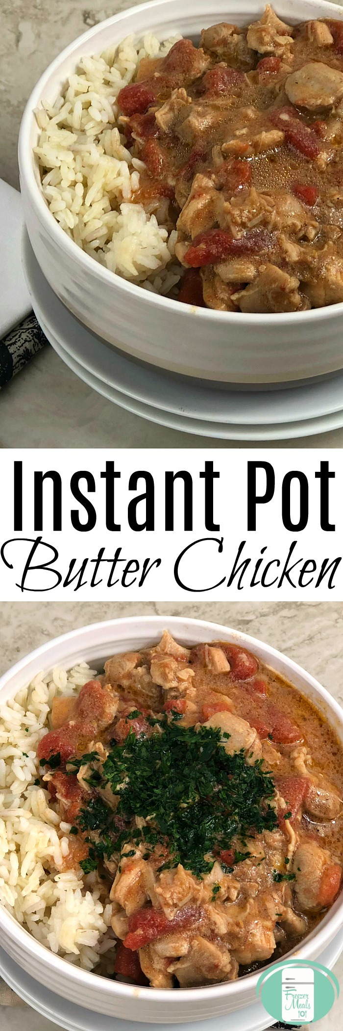 Instant Pot Butter Chicken Freezer Meal #freezermeals101 #freezermeals #freezercooking #instantpot