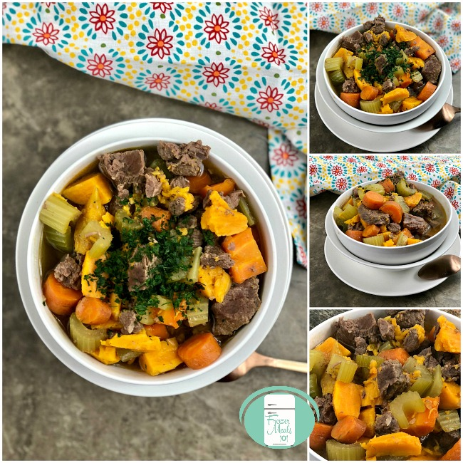 collage of beef stew in bowls