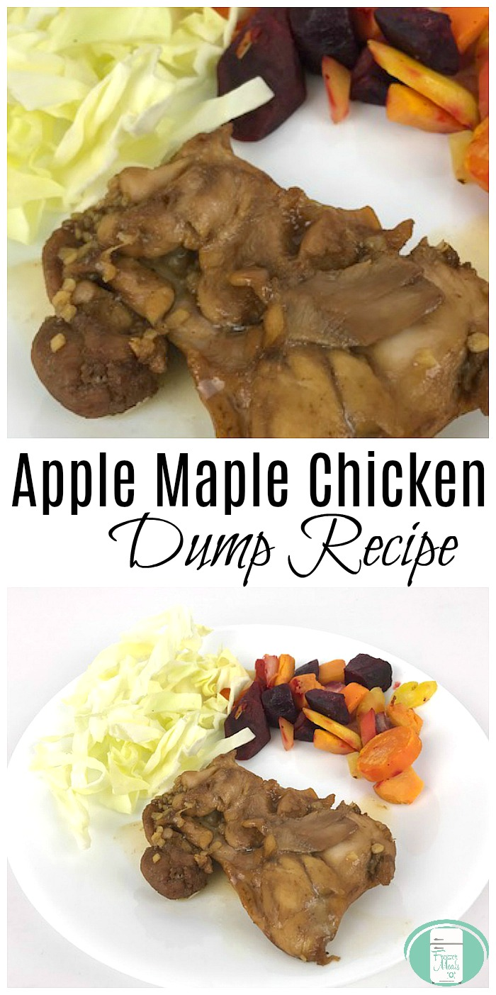 Apple Maple Chicken Dump Recipe #freezermeals101 #dumprecipes #freezermeals #freezercooking #freezerfriendly