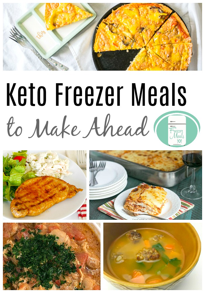 These make-ahead Keto freezer meals make it easy to have meals ready to go. #keto #freezermeals101 #freezercooking #freezermeals #lowcarb #ketorecipes