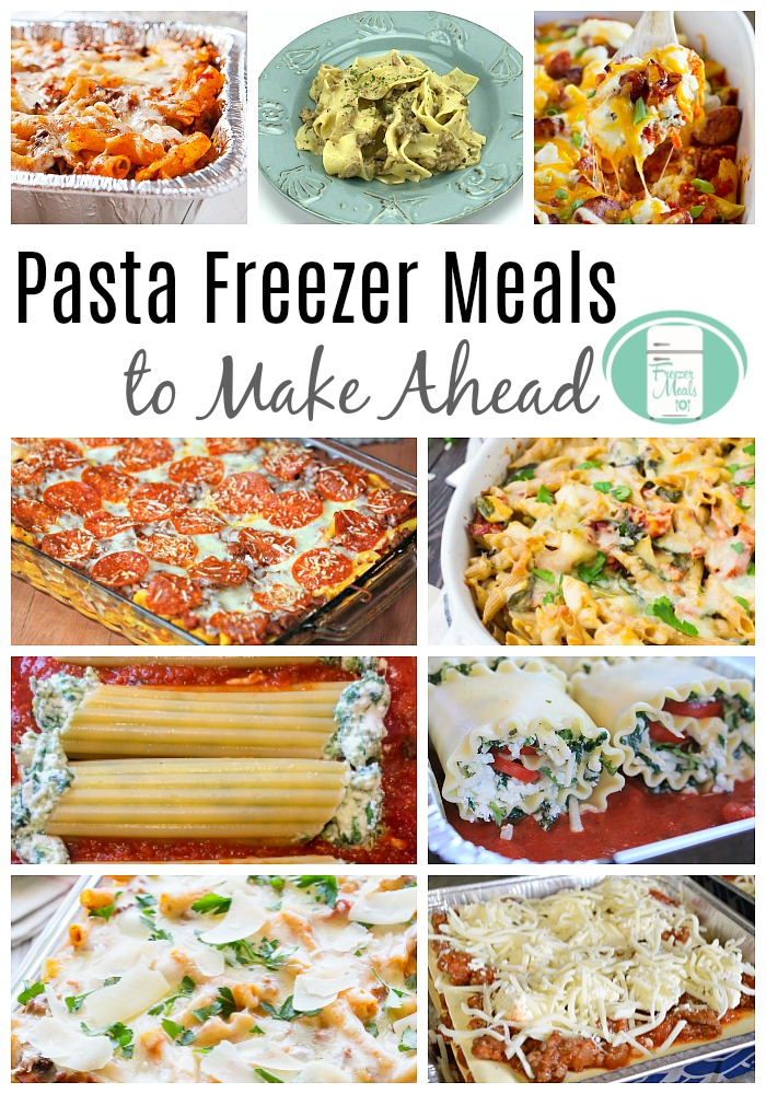 The ultimate in comfort food. Make ahead pasta freezer meals. #freezermeals101 #freezermeals #pasta #easyfamilymeals #recipes