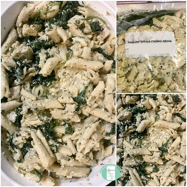 This make ahead chicken and spinach penne Alfredo is perfect for giving a friend who is moving, expecting, adopting, or going through a difficult season. It is an all in one meal that packs a flavourful punch.