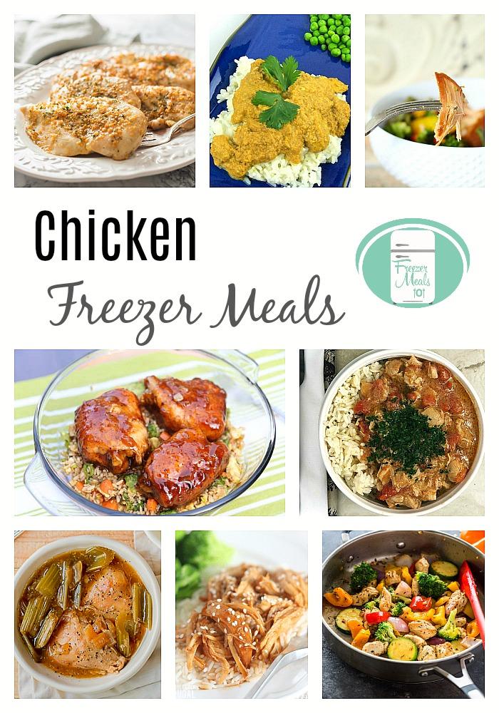 Stock up with these chicken freezer meals #freezermeals101 #freezercooking #chickenrecipes #familyfriendlyrecipes