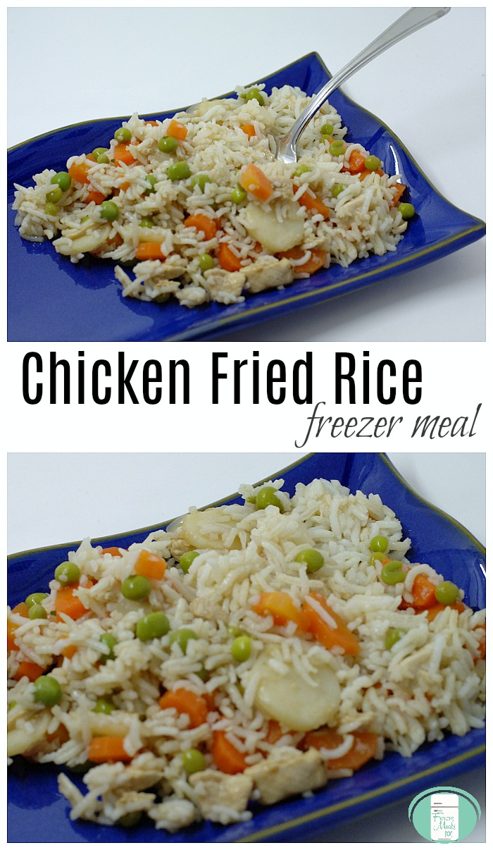 Chicken Fried Rice Easy Freezer Meal #freezermeals101 #freezercooking #makeaheadmeals #friedrice