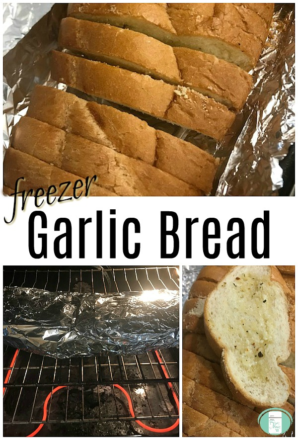 Make Ahead freezer garlic bread #sidedishes #freezermeals101 #garlicbread #makeahead
