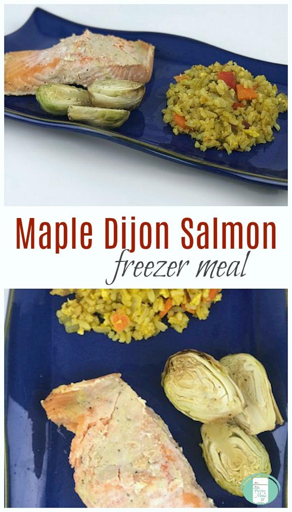 Maple Dijon Salmon freezer meal #makeahead #freezermeals101 #salmon #freezermeal