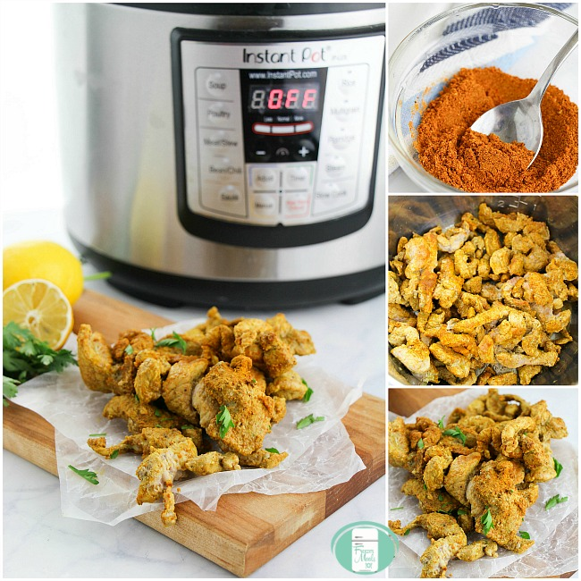 Instant pot with pork shawarma