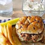 Turkey Sloppy Joes with sides