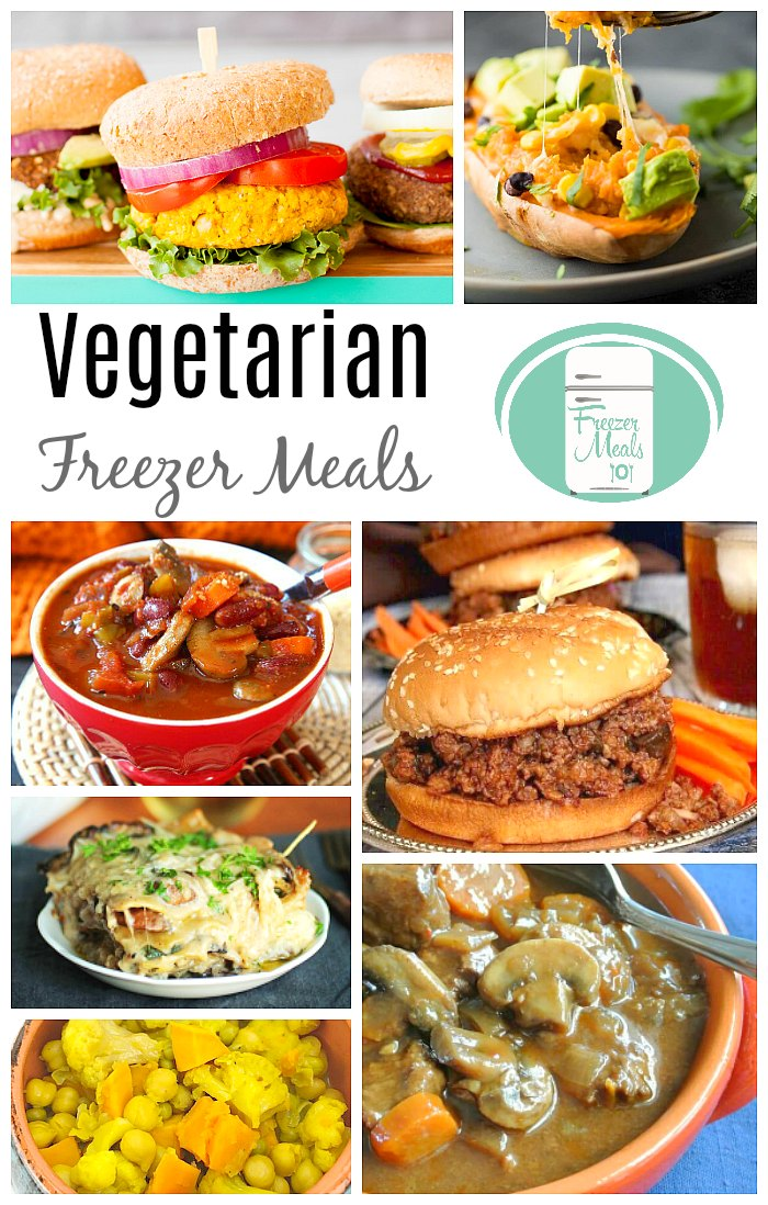 Vegetarian Freezer Meals #vegetarianrecipes #freezermeals101 #vegetarian #makeahead