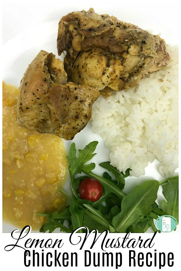 Lemon Mustard Chicken Dump Recipe #crockpotrecipes #freezermeals101 #freezercooking #makeaheadmeals #slowcooker #chickenrecipes #dumprecipes