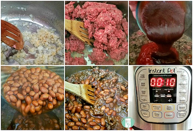 making BBQ beans in the Instant Pot