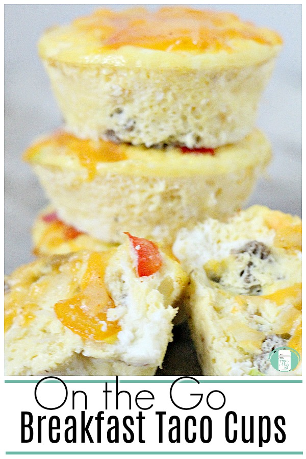 These on the go breakfast taco cups make busy weekday mornings so much easier! #makeaheadbreakfast #breakfastrecipes #freezermeals101 #easyfamilymeals #feedingkids