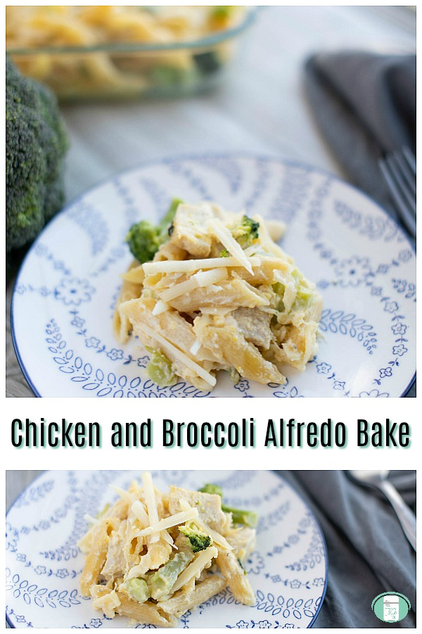 Chicken and Broccoli Alfredo Bake Freezer Meal #freezermeals101 #freezercooking #makeaheadmeals #casseroles