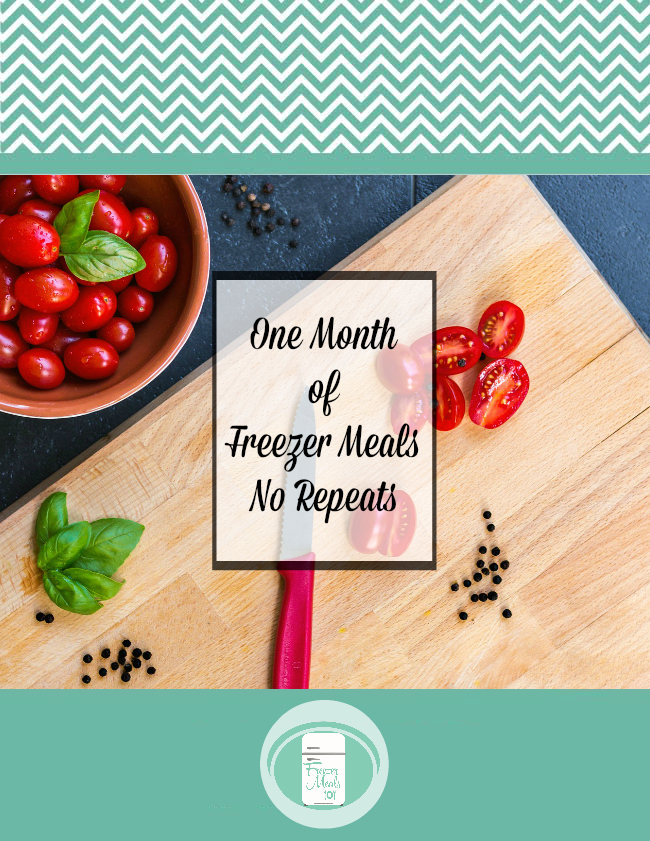 One Month of Freezer Meals shopping list