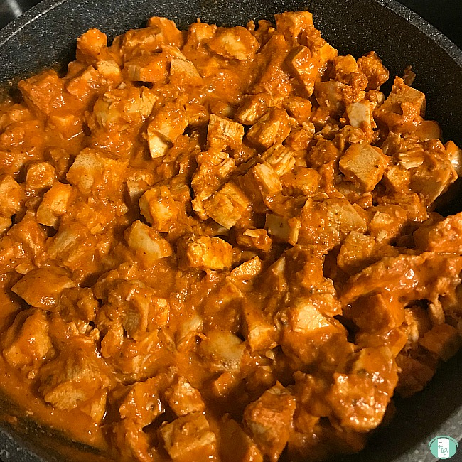 close up of easy butter chicken
