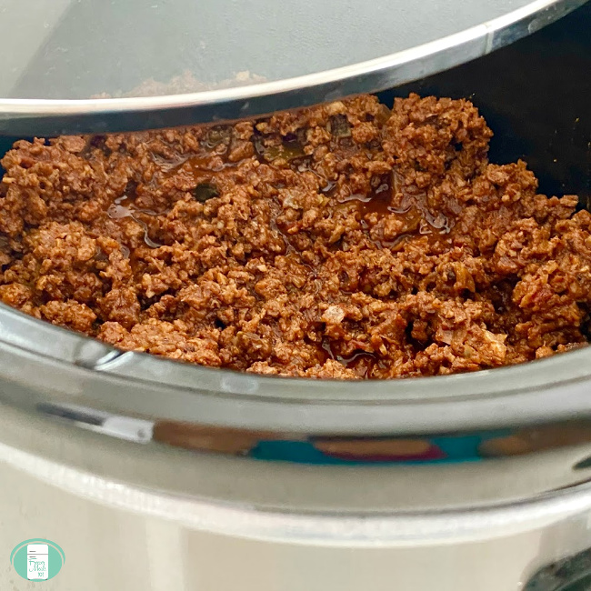 hamburger cooking for taco sloppy joes